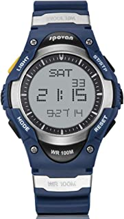 Kids Watch Outdoor Sports Waterproof Digital Watch with Alarm Back Light Stopwatch Blue