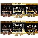 Bestpresso Coffee for Nespresso Original Machine 120 pods Certified Genuine Espresso Variety Pack Caramel,Vanilla and Chocolate, Pods Compatible with Nespresso OriginalNew Packaging