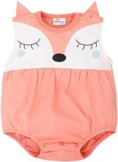 Baby Boy Girl Romper Summer Sleeveless Cute Fox Newborn One Piece Outfits