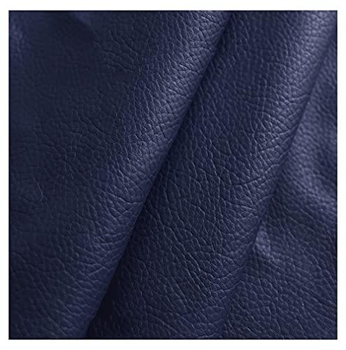 polipiel por metros Tela De Cuero Artificial , Tela De CueroEco-cuero imitación de cuero natural Cueropara reparación Material De Decoración De Tela De Cuero Para Conta(Size:1.4X9m,Color:Azul oscuro)