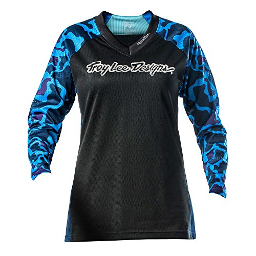 Troy Lee Designs Damen Jersey Langarm Skyline - Dark Sky Camo, XL