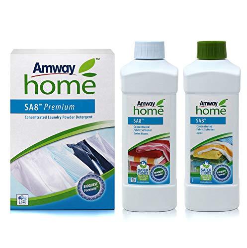 Verpakking Biologisch afbreekbaar wasmiddel en 2 weekmakers - Ons best verkochte wasmiddel bevat het exclusieve BIOQUEST FORMULA, gebaseerd op actieve zuurstof en bio-enzymen. Het biedt de krachtige reinigings- en vlekverwijderingskwaliteiten die klanten waarderen en verwachten, en nu is het duurzamer dan ooit. Regel het gevoel van zachtheid voor je kleding. Onze speciaal geformuleerde weekmaker minimaliseert materiaalslijtage en vermindert statische elektriciteit