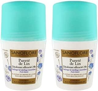 Sanoflore Purete De Lin 24hr Organic Deodorant 2 Pack