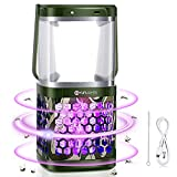 Solar Bug Zapper 2-in-1 LED Camping Lantern, YUNLIGHTS Portable Waterproof Mosquito Killer Lamp with 3 Lighting Modes and USB Charging for Indoor, Outdoor, Hiking, Fishing, Emergency (Camouflage
