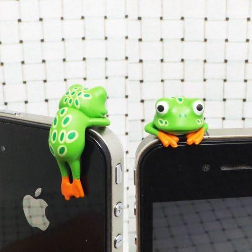 ZOEAST Amazon Forest Tree Green Frog Decor Dust Plug 3 5mm Phone Headphone Jack Earphone Cap product image
