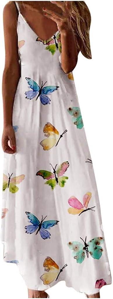 Maxi Dress for Women, Women's Casual Summer V Neck Sexy Beach Party Maxi Dresses Vintage Long Dress