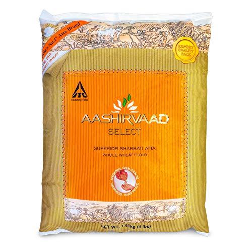 Aashirvaad Select Superior Sharbati Whole Wheat Atta - 4 lbs