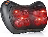 Shiatsu Neck Massager for Men, Back Massager with Heat, Neck Massager for Neck Pain Relief, Deep Tissue Kneading for Neck,Back,Waist,Use at Home and Car, Black