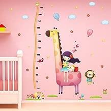 Decals Design 'Giraffe and me Height Chart' Wall Sticker (PVC Vinyl, 60 cm x 90 cm)