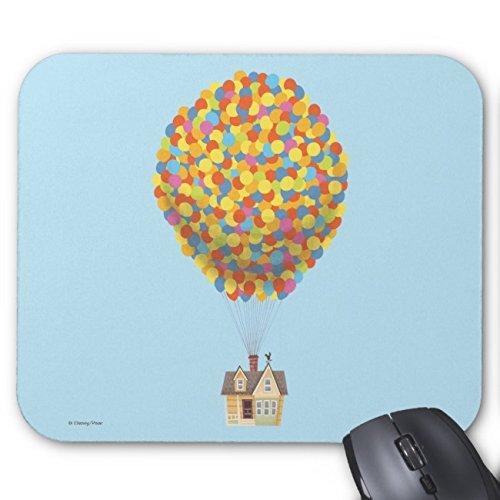 Uoopoo disney pixar up | casa de globos alfombrilla de ratón en colores pastel rectángulo goma antideslizante alfombrilla de ratón personalizada alfombrillas de ratón para juegos (patrón: impresión)
