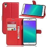 Litao-Case CN Hülle für Oppo R9 Plus hülle Flip Leder + TPU Silikon Fixierh Schutzhülle Case 2