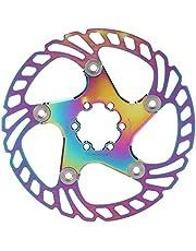Keenso Rotor de Freno de Disco de Bicicleta, Colorido Rotor de Freno de Disco de Bicicleta de montaña 6 Clavos Rotor de Freno de Disco de Bicicleta de montaña 140mm-203mm Rotor de Freno de Disco