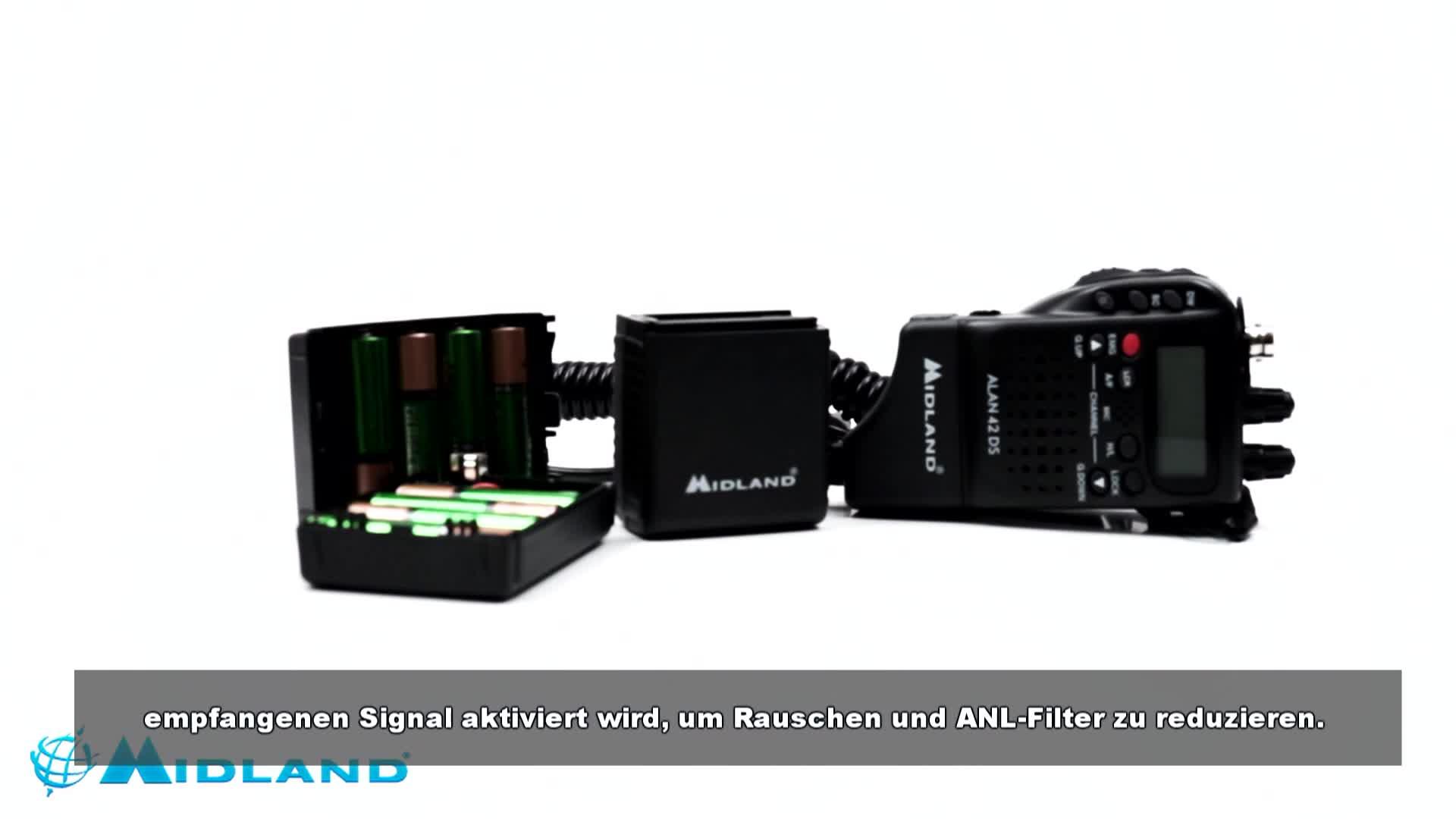 Midland Alan 42 Ds Cb Handfunkgerät Mit Digitalem Squelch Und Umfangreichem Zubehör Für Jedes Einsatzgebiet 4w Am Fm Audio Hifi