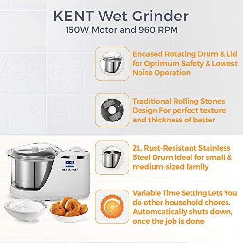 Kent 16079 150 Watt Wet Grinder, White