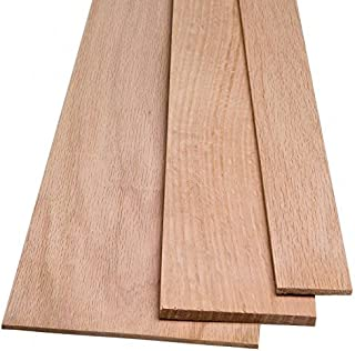 1 Red Oak Wood Board @ 1/4 inch thick x 3-4 Inches Wide (in that range) x 24 Inches Long. Kiln Dry Lumber