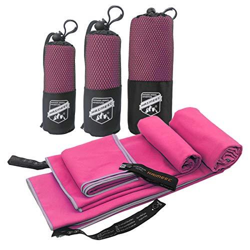 Mikrofaser-Handtuch, ideal für Reisen, Sport und Strand, 3 Größen: S, M, L, Handtücher, schnelltrocknend, super saugfähig, ultrakompakt Geeignet für Camping, Rucksackreisen, Fitnessstudio, Strand