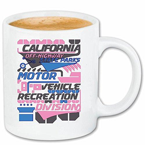Reifen-Markt Kaffeetasse California Motor VEHICEL Recreation Division MOTORENÖL Motorsport Rennsport AUTOMOBILSPORT STOCKCAR RENNEN Keramik 330 ml in Weiß