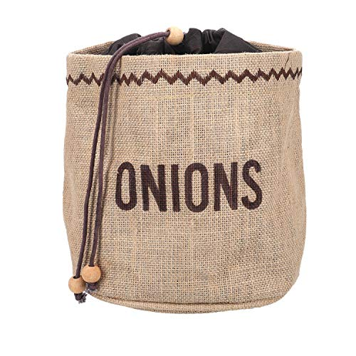 Kitchen Craft Natural Elements Onion Bag with Blackout Lining, Fabric, Brown