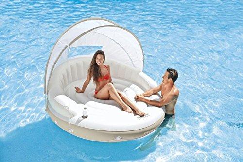Insel mit Sonnendach Badeinsel der ultimative Badespaß / Insel für ideale Urlaubsstimmung / Schwimminsel / Badeinseln / Relaxen auf der eigenen Insel / Maße ca. 199 cm x 150 cm