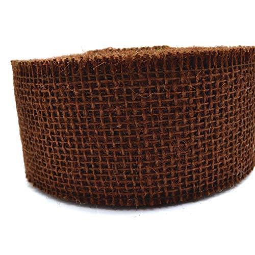 Jute BRAUN 3 m x 6 cm Stück (1,15€/m) Juteband Naturjute Dekoband Geschenkband Gitterband Rustikal Floristikband