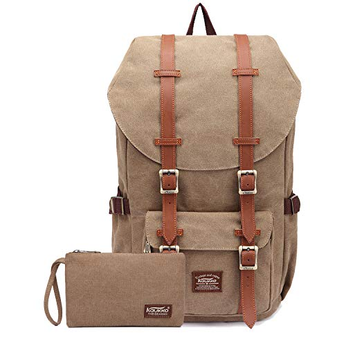"""Price comparison product image Travel Laptop Backpack,  Outdoor Rucksack,  School backpack Fits 15.6""""(Canvas Khaki2pc)"""