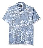 Quiksilver Woven Camisa, Estate Blue Hatch Rose, S para Hombre