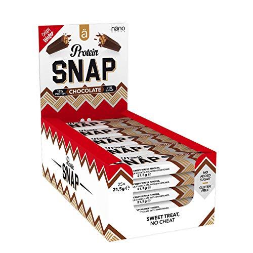 Nanosupps Protein SNAP Protein BarHIGH PROTEIN - Proteinriegel Muskelaufbau Diät - LOW SUGAR Fitnessriegel - Leckerer Crunchy Eiweißriegel Snack - Ohne Zuckerzusatz - 25 Snaps pro Box