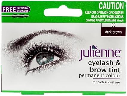 Julienne - Pestañas y cejas permanentes, color marrón oscuro 03, 15 ml.
