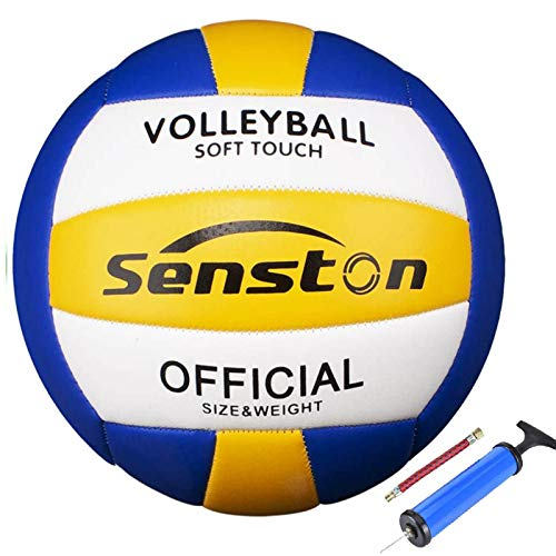 Senston Ballon de Volley, Ballon de Beach-Volley Soft Touch pour Adultes et Enfants