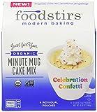 Foodstirs Organic, Non GMO Minute Mug Cake Mix Celebration Confetti Cake, 2.54 Ounce (Pack of 4)