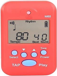 Metrónomo Pantalla LCD universal Metrónomo digital for afinador de guitarra de piano y generador de tonos for guitarra, bajo, ukelele, violín ( Color : Rojo , tamaño : Free size )