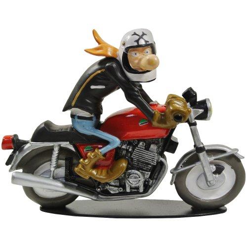 Promobo - Statuetta da collezione BD Joe Bar Team Racing Moto Guzzi 750 René Lagauffre n. 43