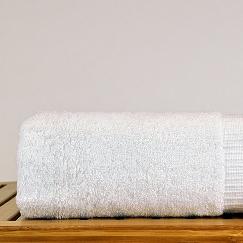 Luxury Hotel & Spa Bath Towel 100% Genuine Turkish Cotton, 27 x 54 ,Set of 4,White