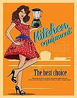 厨房機器、ブリキサインヴィンテージ面白い生き物鉄の絵画金属板ノベルティ