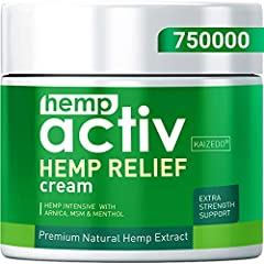 HIGHLY ACTIVE: Hempactiv pain relieving cream helps your body heal naturally with clinically proven ingredients like hemp, MSM, arnica, and menthol. SUPERIOR ABSORPTION: Absorbs quickly to provide targeted pain relief to your back, neck, knee, hip, s...