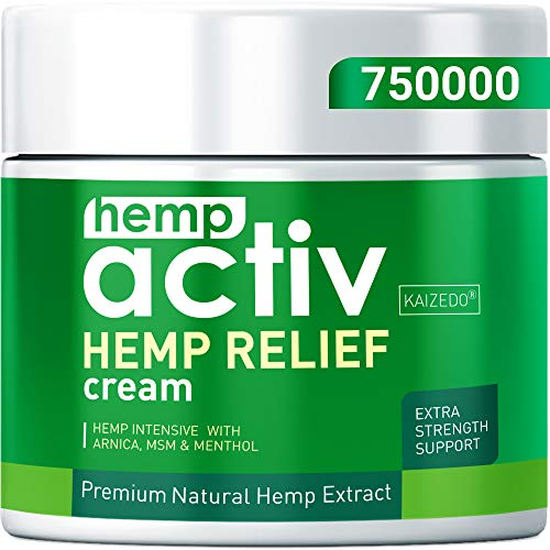 HEMPACTIV Hemp Pain Relief Cream | Hemp + MSM + Arnica + Menthol | Relieve Muscle, Joint & Arthritis Pain | Effective Hemp Pain Cream | 2oz