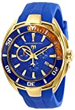 Technomarine Men's Cruise California II Stainless Steel Quartz Watch with Silicone Strap, Blue, 25 (Model: TM-118044)
