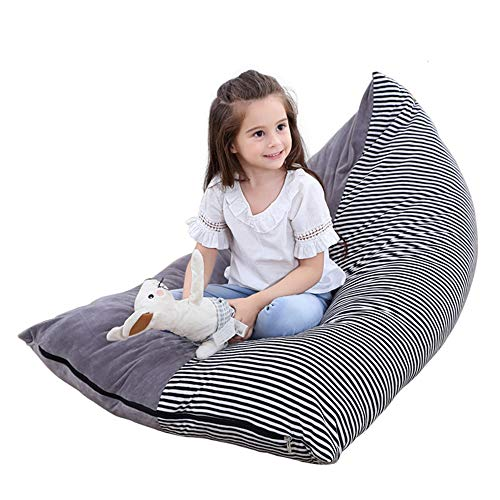 Littleduck Stuffed Animal Bean Bag Kids Toy Storage Organizer Stuffie Seat Soft Velvet Floor Foldable Chair Sofa Seat Cover for Kids, Teens and Adults Extra Large