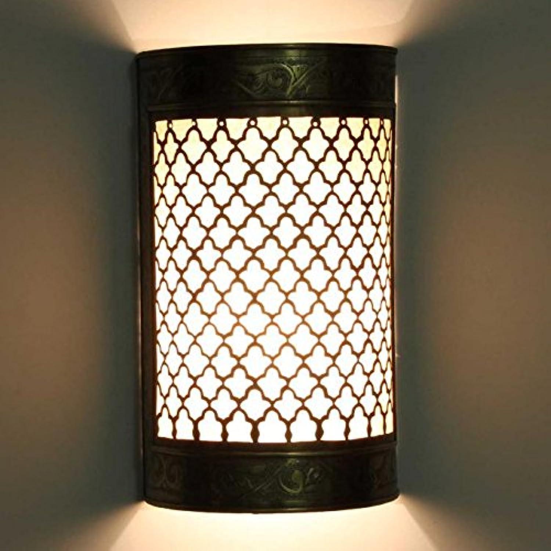 Orientalische Wandlampe marokkanische Wandleuchte Hanin aus Messing H 28 x B 16,5 cm  Schne Wandbeleuchtung & Dekoration  Kunsthandwerk aus Marrakesch  L1847