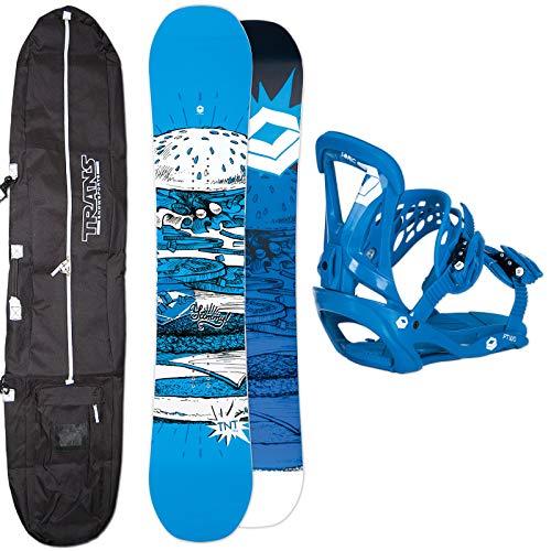 Ftwo Herren Snowboard Set TNT 144 cm 2019 Sonic BINDUNG GR. M + Bag