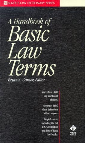 A Dictionary of Basic Law Terms (Black's Law Dictionary Series)