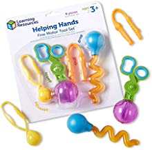 Learning Resources Helping Hands Fine Motor Tool Set Toy, Fine Motor and Sensory Toy, Fine Motor Games, Ages 3+