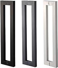 Deurhandvat, glazen deur roestvrij stalen handvat glazen deurklink zwart roestvrij staal vierkante buis deurklink geschikt...