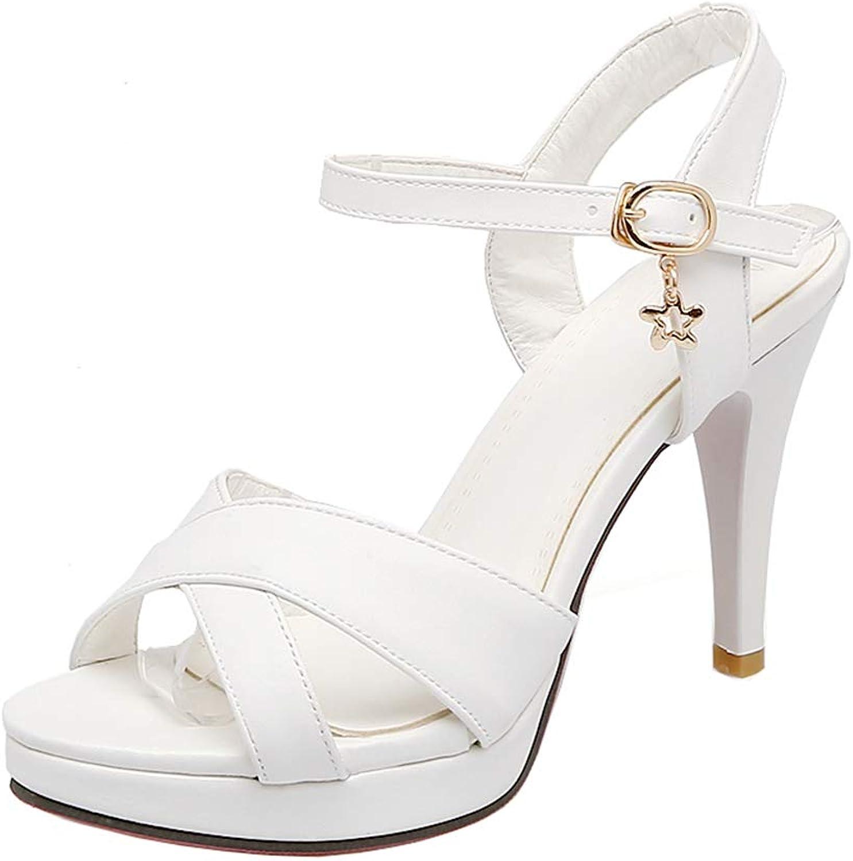 437177f5f2ff9 XDLEX Women Lolita Cosplay Strappy Sandals Credver Strap Platform ...