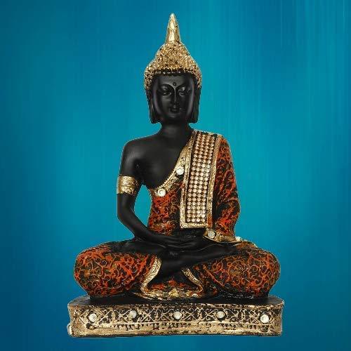 Sitting Lord Buddha Idol Statue Showpiece-Home Decor-Table Decor-Gifts God Idol Samadhi Bhudha II Gifting Showpiece for Home Inauguration Parties II