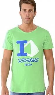 Amnesia Ibiza: I Love Amnesia Men's Green T-Shirt
