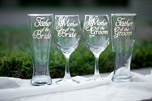 Mother of Bride Wine Glass