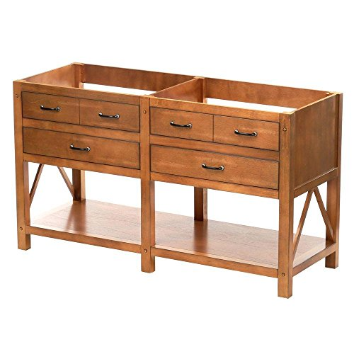 """Foremost AVHOS6022 Avondale 60"""" Vanity Cabinet Only in Weathered Pine"""
