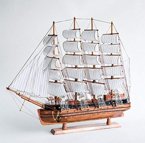 CTDMMJ Segelschiff Modell Ornamente, große Möbel, große Dekorationen, Kunsthandwerk, Holz handgefertigt-Kleines Boot E, Länge 50, Höhe 45cm