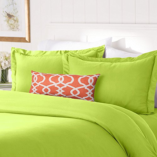 Elegant Comfort #1 Best Bedding Duvet Cover Set! 1500 Thread Count Egyptian Quality Luxurious Silky-Soft Wrinkle Free 2-Piece Duvet Cover Set, Twin/Twin XL, Lime